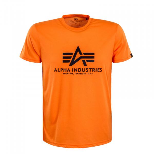 Herren T-Shirt Basic Neon Orange Black