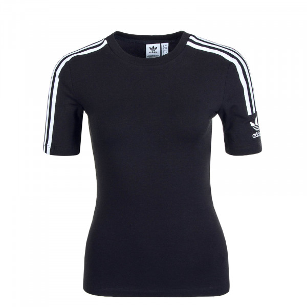 Damen T-Shirt Tight Black White