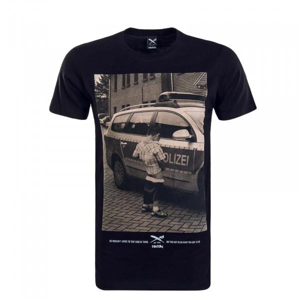 Herren T-Shirt Pissizei Black