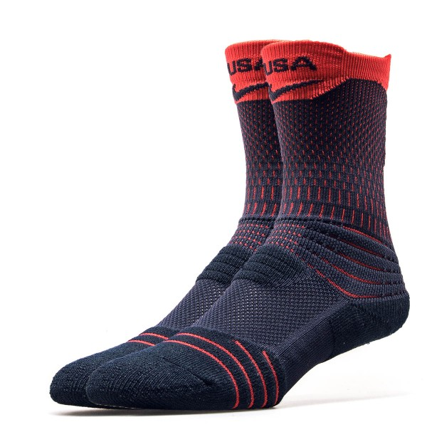 Nike Socks Adult Navy Red