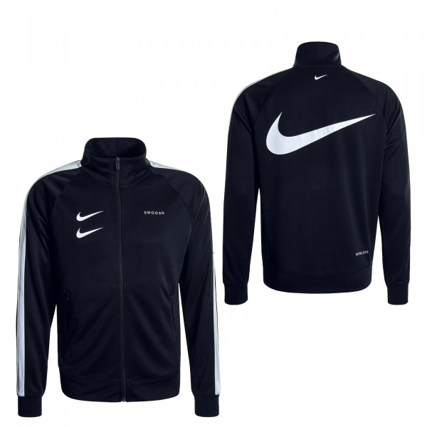 Herren Trainingsjacke Swoosh 4884 Black White