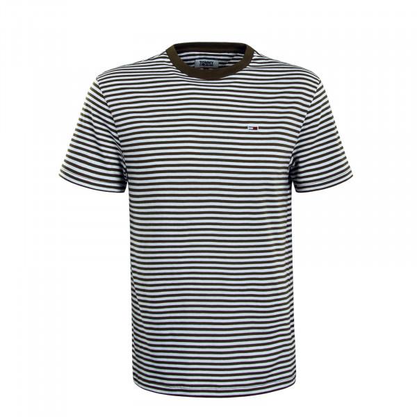 Herren T-Shirt 5515 Classic Stripe Olive White