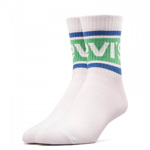 Levis Socks 2 Pack 168 Soft White Green
