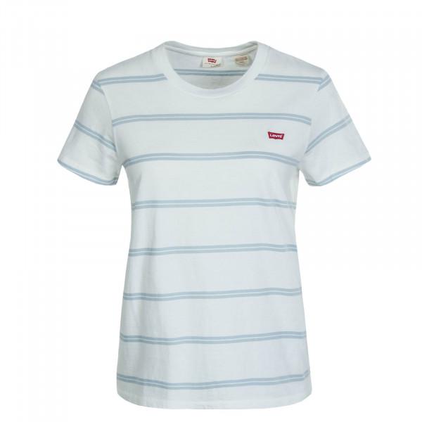 Damen T-Shirt Alyssa Stripe White Blue