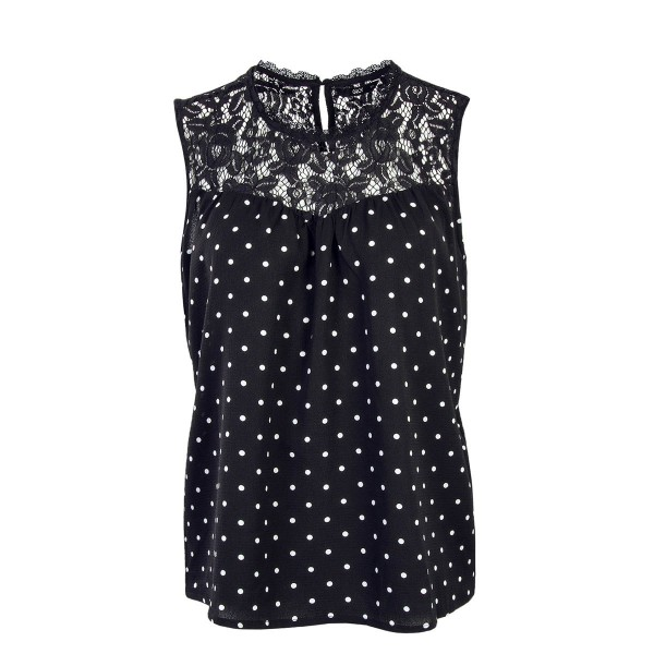 Only Top Rose Dream Black White Dot