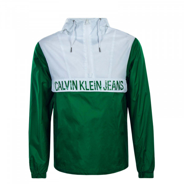Herren Windrunner Color Block Green White