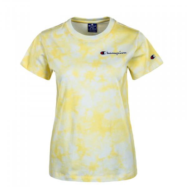 Damen T-Shirt - Crewneck 113939 - White / Allover / Yellow