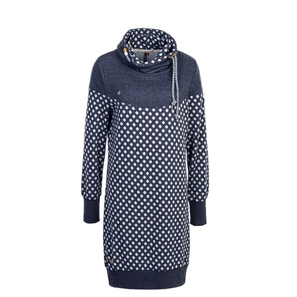 Ragwear Wmn Dress Chloe Navy Dot