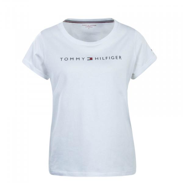 Damen T-Shirt RN Logo White Black