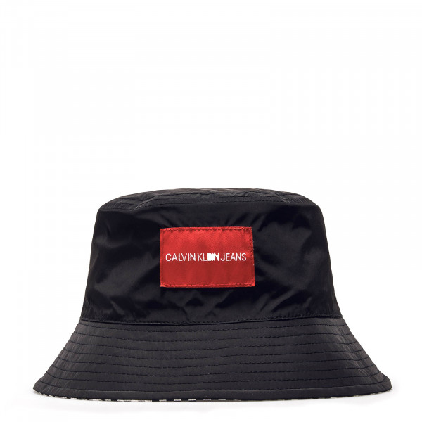 CK Hat J Reversible Gingham Black Red