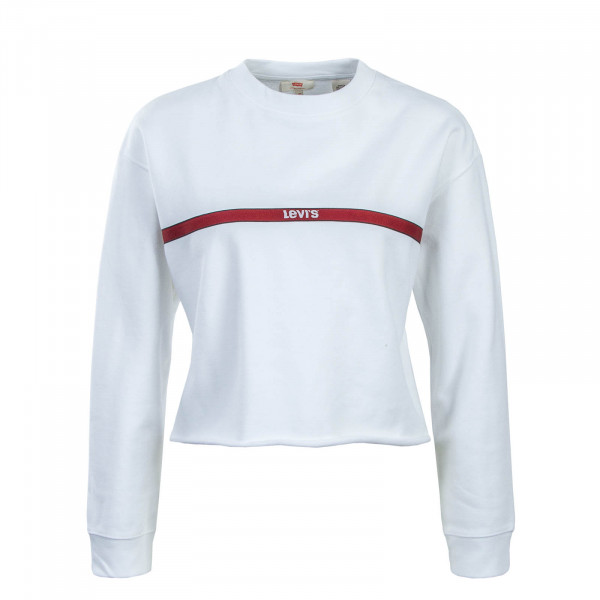 Levis Wmn Sweat Graphic Raw Cut White Bo