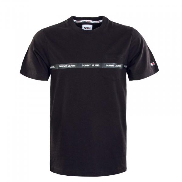 Herren T-Shirt - Branded Tape - Black