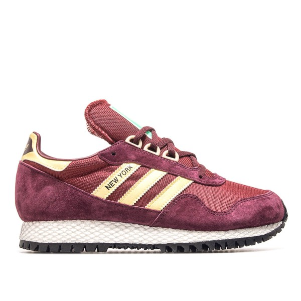 Adidas New York Maroon Burgundy Gold