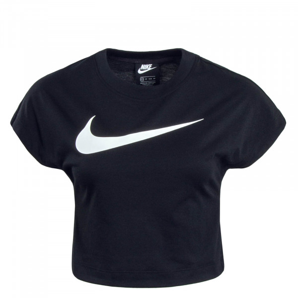 Damen Crop Top NSW Swoosh Black White
