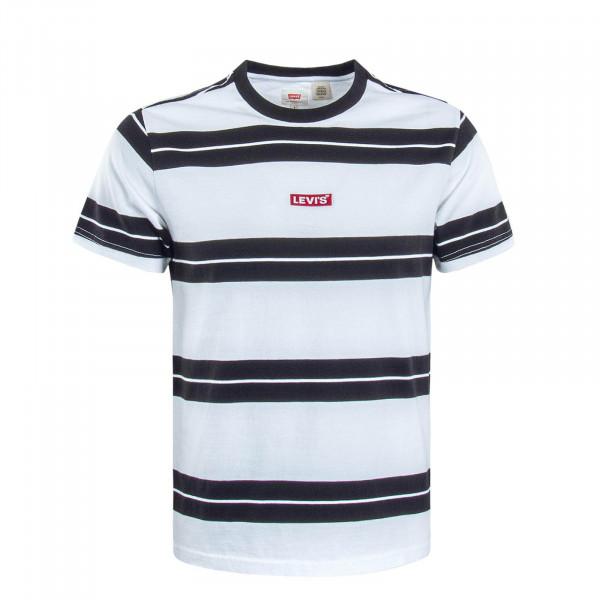 Herren T-Shirt  Relaxed Baby Stripe White Black