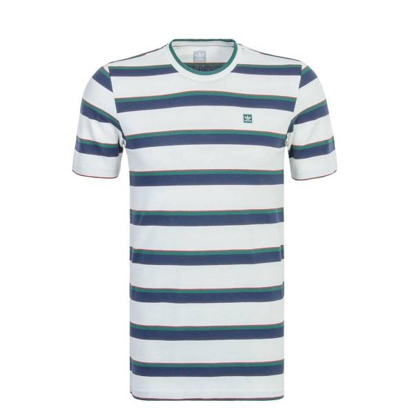 Adidas TS Clubhouse Stripe Wht BlueGreen