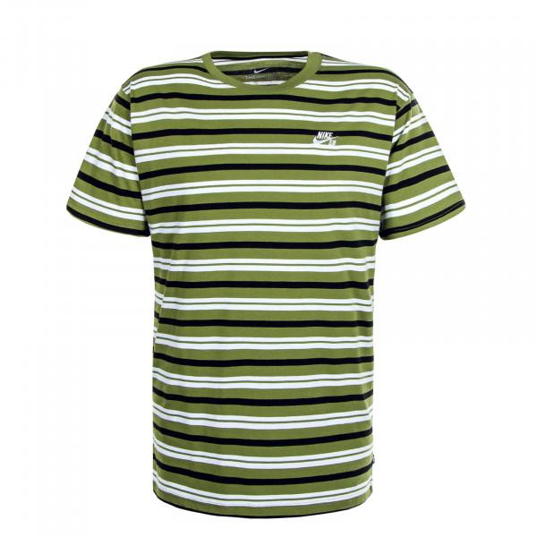 Herren T-Shirt Stripe Asparagus