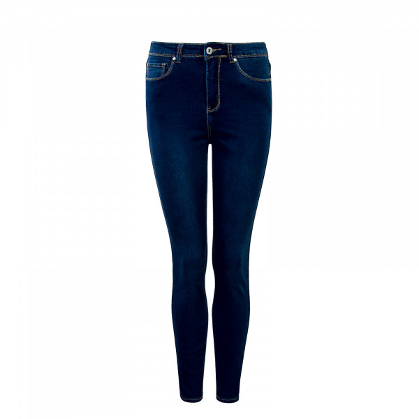 Damen Jeans E618  Middle Blue