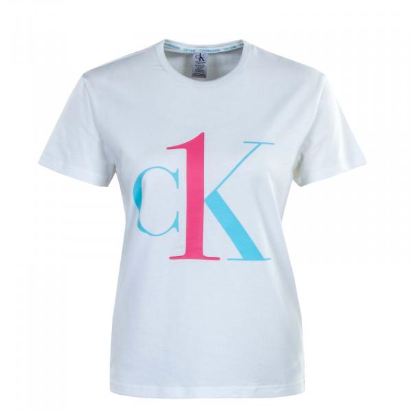 Damen T-Shirt - Crew Neck 6436 -  White / Sky / High