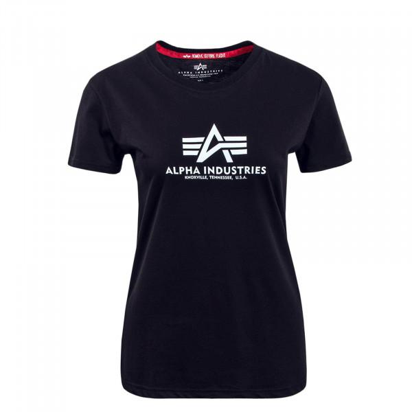 Damen T-Shirt New Basic Black White