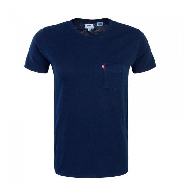 Herren T-Shirt Setin Sunset Pocket Navy