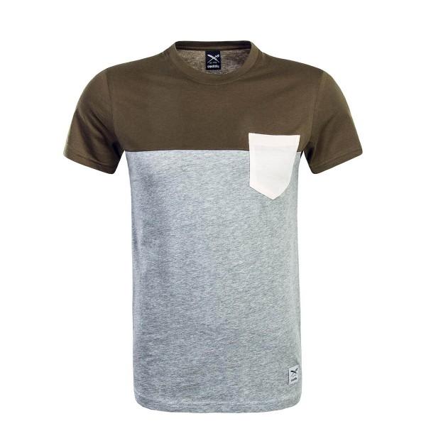 Iriedaily TS Block Pocket Olive Grey