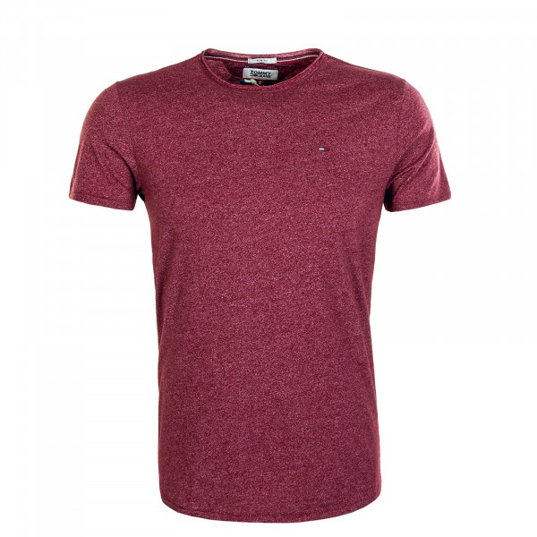 Herren T-Shirt Essential Jaspe 4792 Wine Red