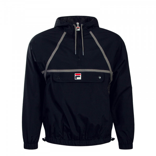 Herren Windbreaker Astor Batwing Black Grey