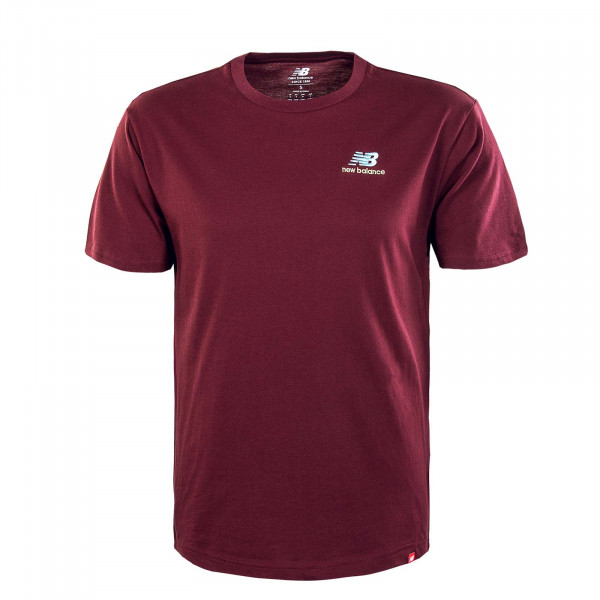 Herren T-Shirt - New Balance Essence Embr - bordeaux