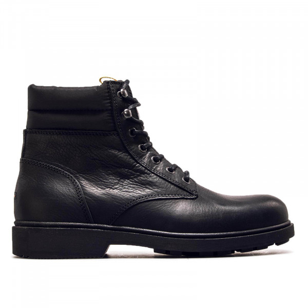 Herren Boot Casual Leather Black