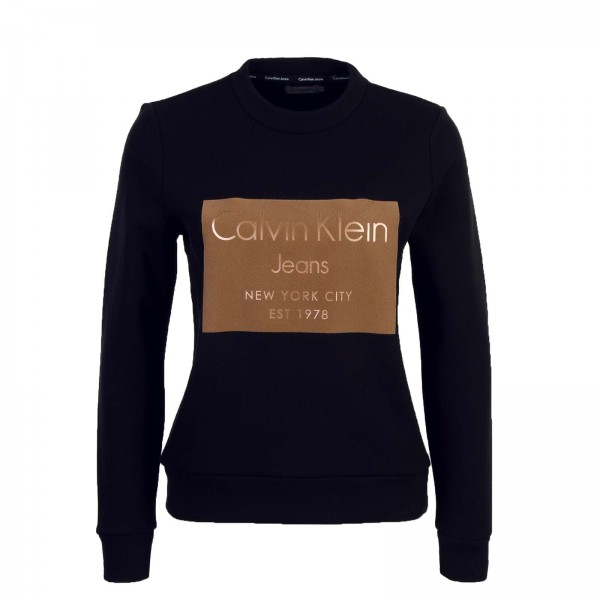 CK Wmn Sweat Hansi Black Brown