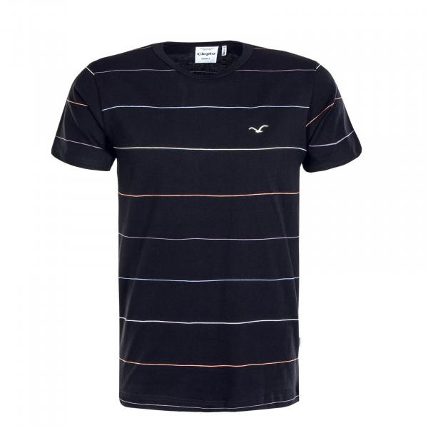Herren T-Shirt Oldschool Multi Stripe Black