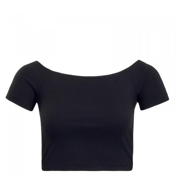 Damen T-Shirt Off Shoulder Day Black