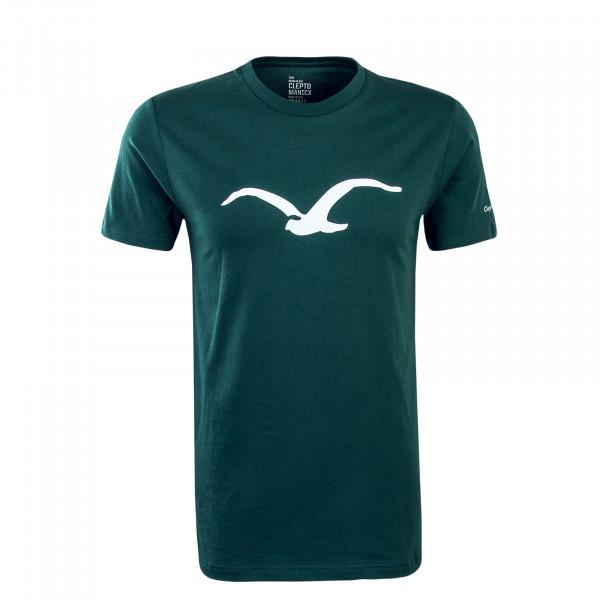 Herren T-Shirt Möwe Dark Green White