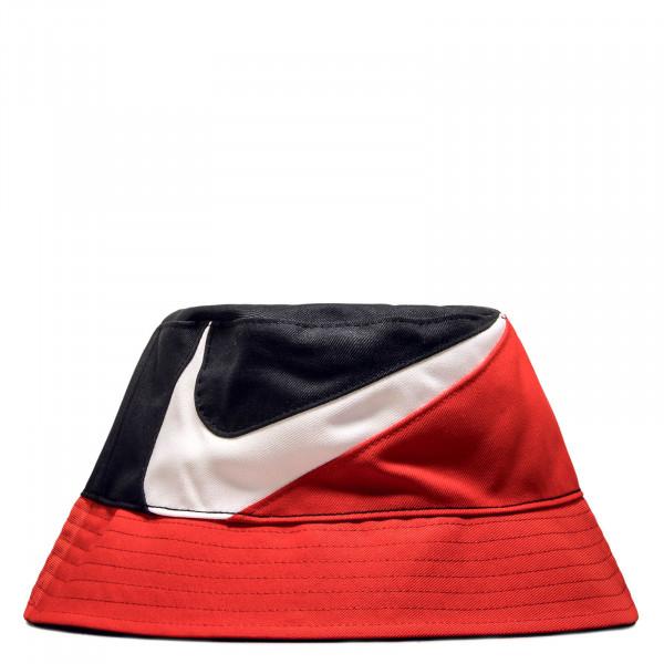 Hat Bucket Swoosh Black Red