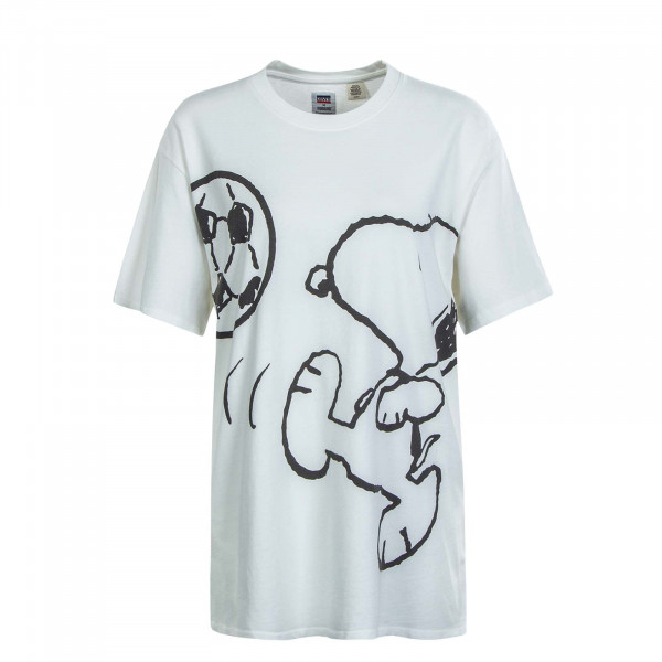 Damen T-Shirt Graphic Relaxed Snoopy White