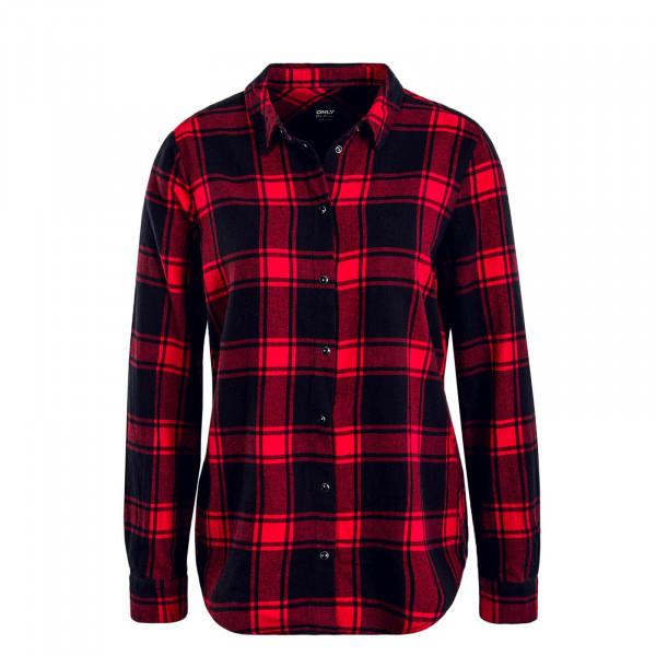 Damen Bluse Rock It Loose Check Red Black