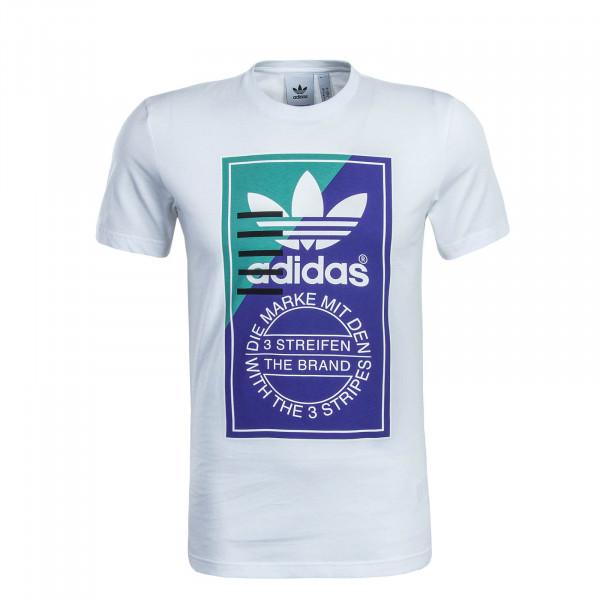 Herren T-Shirt Tongue Label 2 White Purple