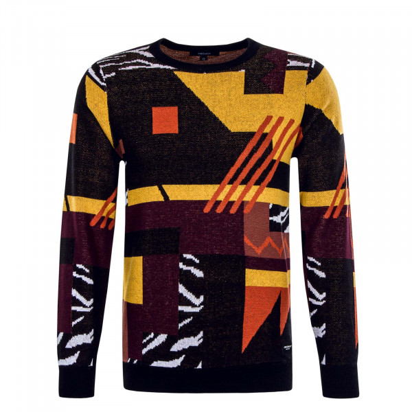 Herren Knit Crazy Fresh Black Yellow Orange