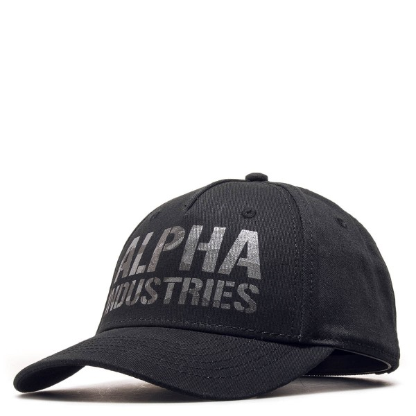 Alpha Cap Camo Print Black Grey
