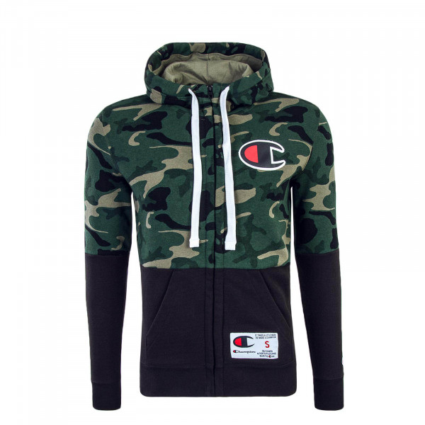 Champion Full Zip Sweatjacket Camo Black
