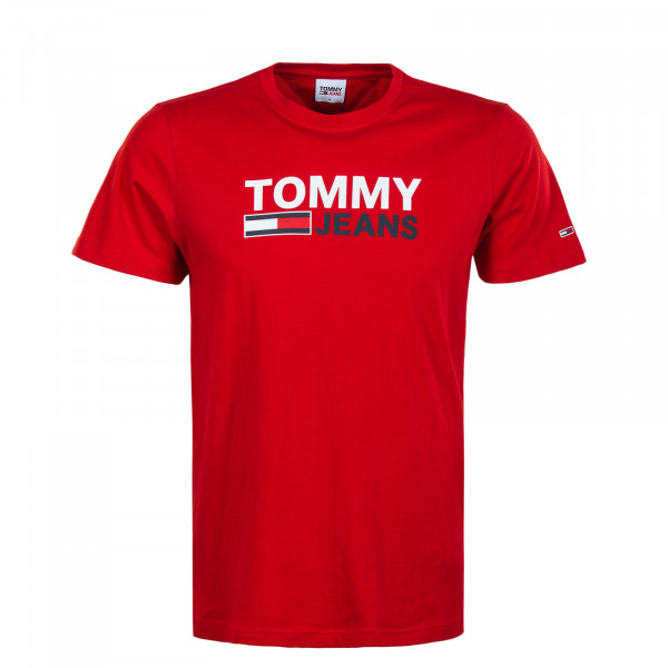 Herren T-Shirt - Corp Logo Tee 10214 - Deep Crimson