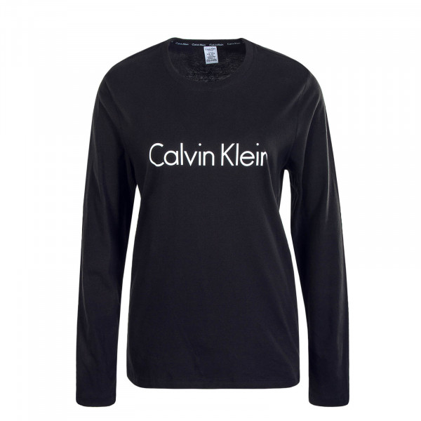 Damen Longsleeve Crew Neck Black
