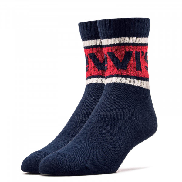 Levis Socks 2 Pack 168 Soft Navy Red