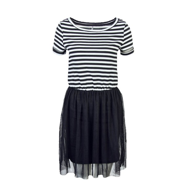 Only Dress Anne Black Stripes
