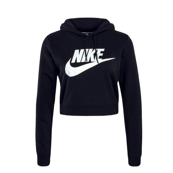 Nike Wmn Hoody NSW Rally Crop Black Whit