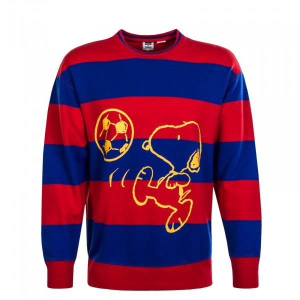 Herren Sweat Relax Crew Snoopy Blue Red