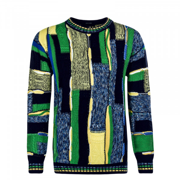 Herren Knit C9903 Navy Green Yellow