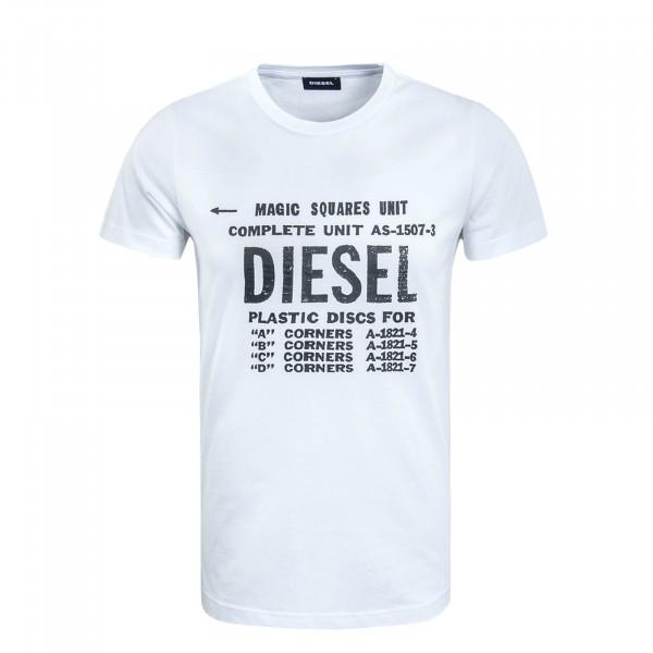 Herren T-Shirt Diego B6 White Black