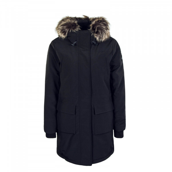 Damenmantel New Sally Long Coat Black